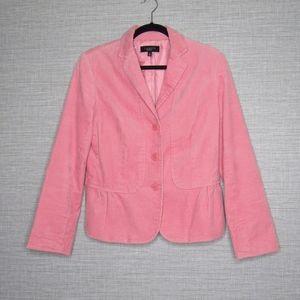 Talbots Womens Sz 10 Pink Corduroy Blazer Jacket